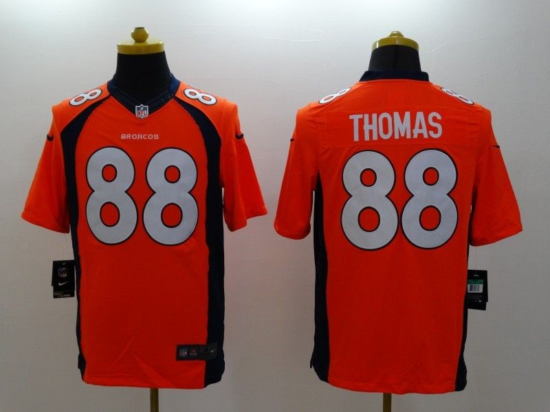 Mens Nfl Denver Broncos #88 Thomas Orange (2014 New) Limited Jersey