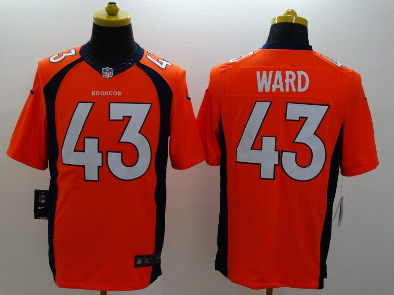 Mens Nfl Denver Broncos #43 Ward Orange (2014 New) Limited Jersey