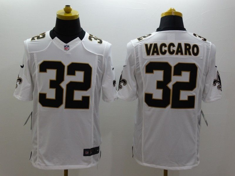Mens Nfl New Orleans Saints #32 Vaccaro White Limited Jersey