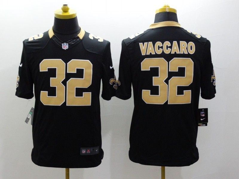 Mens Nfl New Orleans Saints #32 Vaccaro Black Limited Jersey