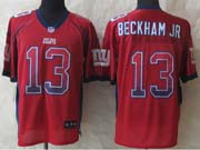 mens nfl New York Giants #13 Odell Beckham Jr drift fashion red elite jersey