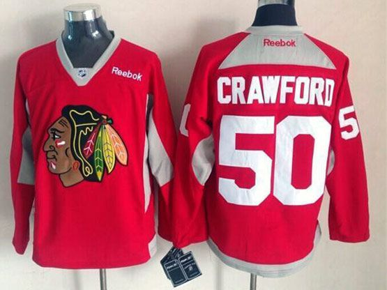 Mens reebok nhl chicago blackhawks #50 crawford red (2015 new train) Jersey