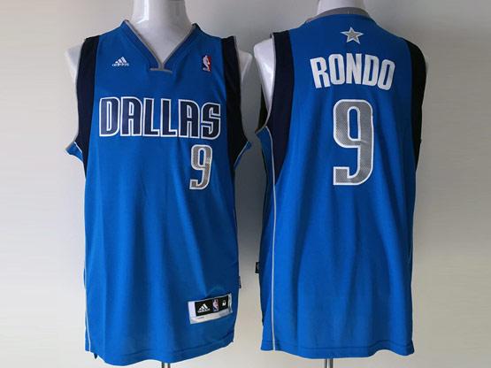 Mens Nba Dallas Mavericks #9 Rondo Light Blue Jersey
