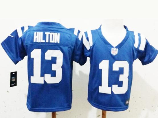 Kids Nfl Indianapolis Colts #13 Hil Ton Blue Jersey
