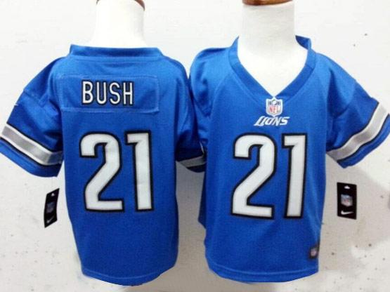 Kids Nfl Detroit Lions #21 Bush Light Blue Jersey