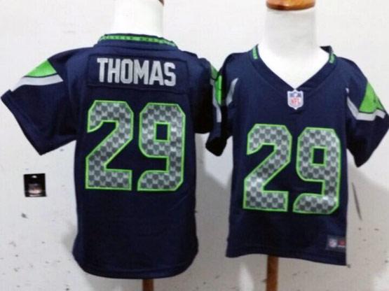Kids Nfl Seattle Seahawks #29 Thomas Blue Jersey