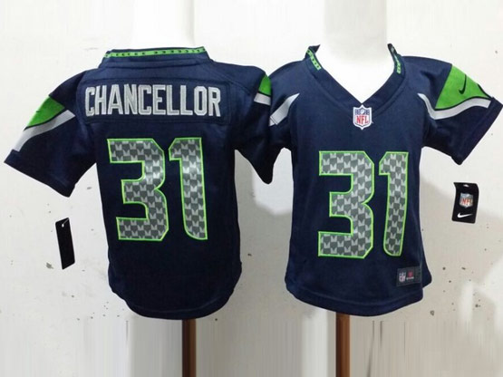 kids nfl Seattle Seahawks #31 Kam Chancellor blue jersey