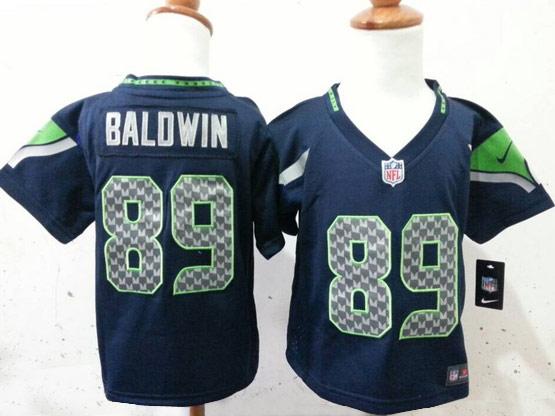 Kids Nfl Seattle Seahawks #89 Baldwin Blue Jersey