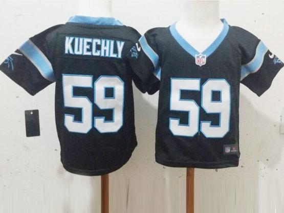 Kids Nfl Carolina Panthers #59 Kuechly Black Jersey