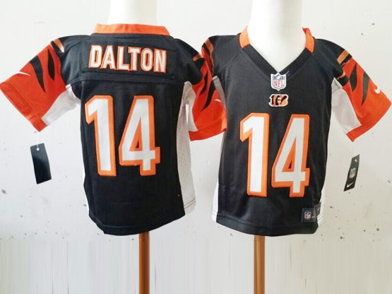 Kids Nfl Cincinnati Bengals #14 Dalton Blue Jersey