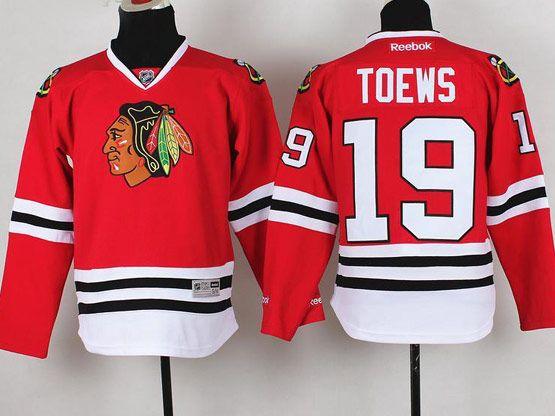 youth reebok nhl chicago blackhawks #19 toews red Jersey
