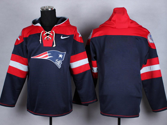 Mens Nfl Houston Texans (blank) Blue (new Single Color) Hoodie Jersey