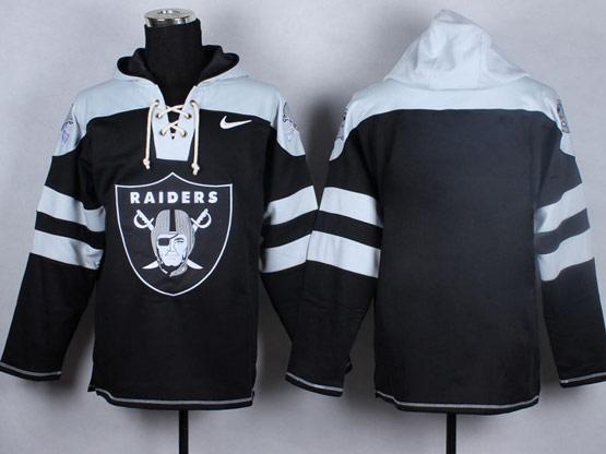 Mens nfl oakland raiders (blank) black (new single color) hoodie Jersey