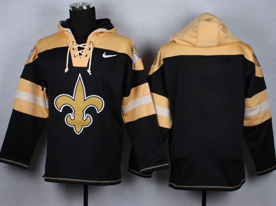 Mens nfl new orleans saints (blank) black (new single color) hoodie Jersey