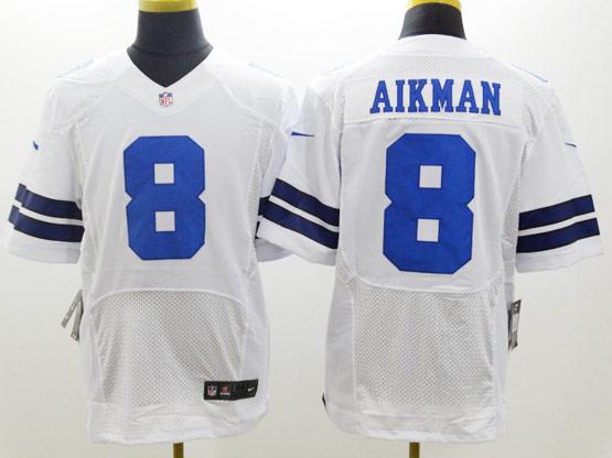 mens nfl Dallas Cowboys #8 Troy Aikman white elite jersey