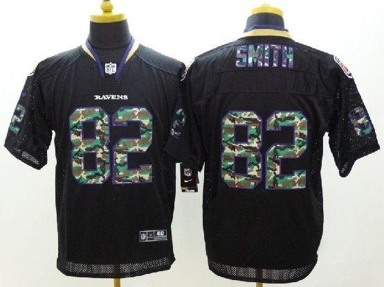 Mens Nfl Baltimore Ravens #82 Torrey Smith Black 2014 Camo Fashion Elite Jersey