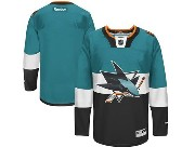 Mens reebok nhl san jose sharks (blank) green (2015 stadium series) Jersey