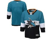 youth reebok nhl san jose sharks (blank) green (2015 stadium series) Jersey