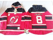 Mens nhl new jersey devils #8 zubrus red hoodie Jersey