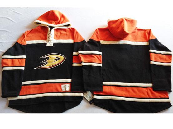 Mens Nhl Anaheim Mighty Ducks (blank) Black&orange (team Hoodie) Jersey