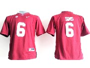 Youth Ncaa Nfl Alabama Crimson #6 Sims Red Sec Limited Jersey