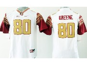 Youth Ncaa Nfl Florida State Seminoles #80 Greene White (gold Number) Jersey