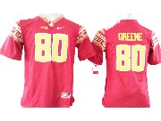 Youth Ncaa Nfl Florida State Seminoles #80 Greene Red (gold Number) Jersey