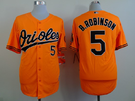 Mens mlb baltimore orioles #5 robinson orange Jersey