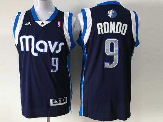Mens Nba Dallas Mavericks #9 Rondo Dark Blue Jersey