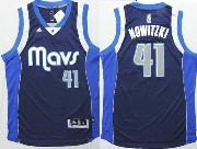 Mens Nba Dallas Mavericks #41 Nowitzki Dark Blue Revolution 30 Jersey (p)