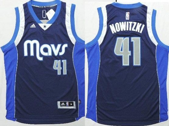 Mens Nba Dallas Mavericks #41 Nowitzki Dark Blue Revolution 30 Jersey (p)
