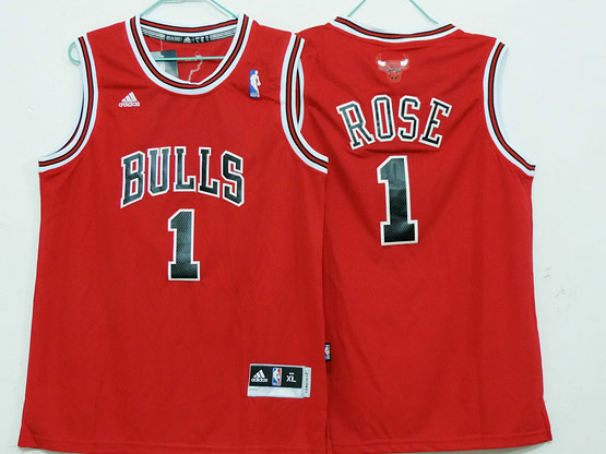 Mens Nba Chicago Bulls #1 Rose (bulls) Red Revolution 30 Jersey (p)