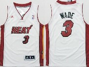 Mens Nba Miami Heat #3 Wade White Revolution 30 Jersey (p)