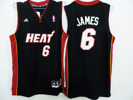 Mens Nba Miami Heat #6 James Black Revolution 30 Jersey (p)