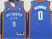 youth nba Oklahoma City Thunder #0 Russell Westbrook blue jersey