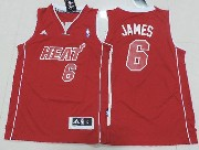 Youth Nba Miami Heat #6 James Red (red Number) Jersey(p)