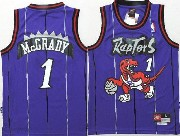 Youth Nba Toronto Raptors #1 Mcgrady Purple Jersey