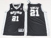 Youth Nba San Antonio Spurs #21 Duncan Black Jersey