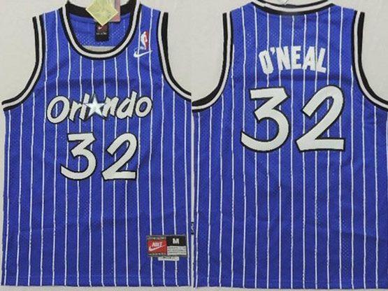 Youth Nba Orlando Magic #32 Oneal Blue Stripe Jersey