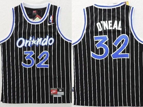 Youth Nba Orlando Magic #32 Oneal Black Stripe Jersey