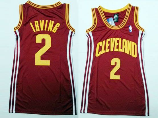 Women  Nba Cleveland Cavaliers #2 Irving Red Jersey