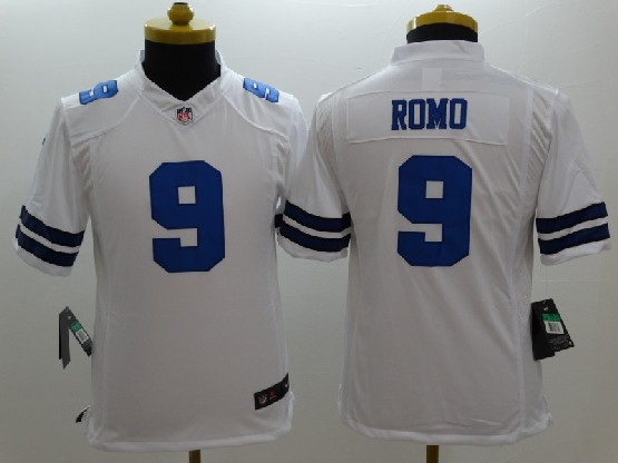 Youth Nfl Dallas Cowboys #9 Romo White Limited Jersey