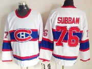Mens nhl montreal canadiens #76 subban white (red number) classics throwbacks Jersey