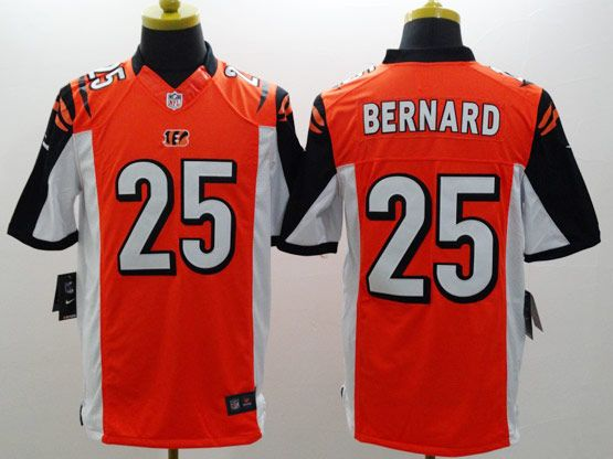 Mens Nfl Cincinnati Bengals #25 Bernard Orange Limited Jersey