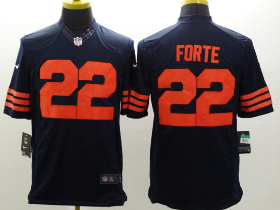 Mens Nfl Chicago Bears #22 Forte Blue (orange Number) Limited Jersey