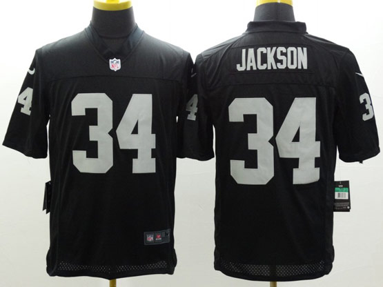 Mens Nfl Oakland Raiders #34 Jackson Black Limited Jersey