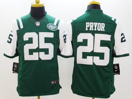 Mens Nfl New York Jets #25 Pryor Green Limited Jersey