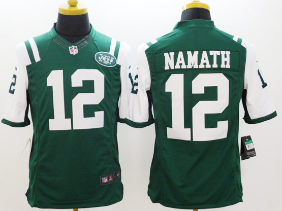 Mens Nfl New York Jets #12 Namath Green Limited Jersey