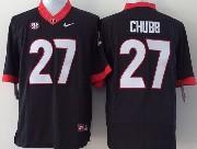 Mens Ncaa Nfl Georgia Bulldogs #27 Chubb Black Sec Limited Jersey