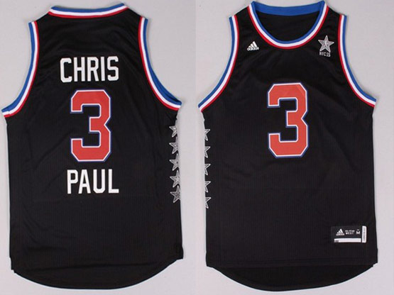 Mens Nba Nyc 2015 All Star West Los Angeles Clippers #3 Paul Black Jersey